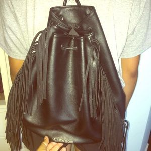 Victoria secret leather fringe backpack ✨